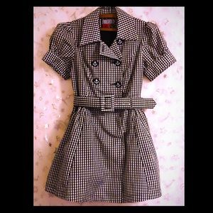 🖤Gingham Pinup Sailor Dress Forever 21 Twist Sz L